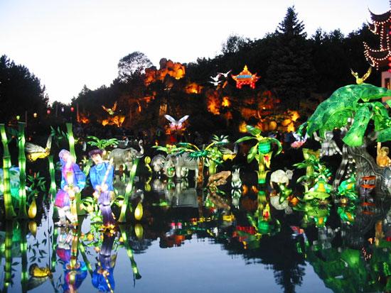 Mise en lumière dans les Jardins japonais et de Chine à Montréal (D.R.)