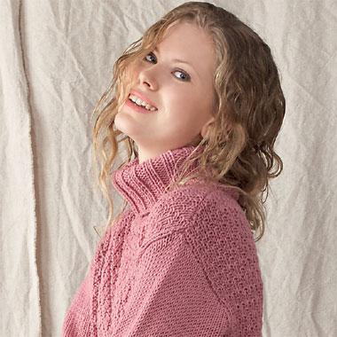 Modèle expliqué gratuit : long pull à col roulé à tricoter