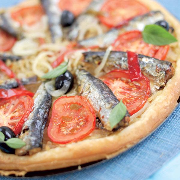 Zoom recette Tarte aux oignons et sardines en conserve aux 2 piments - La Belle-Îloise