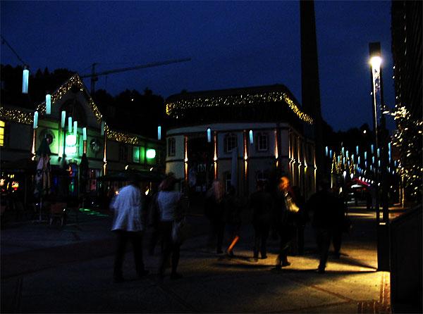 Luxembourg-ville : les Rives de Clausen by night (D.R.)