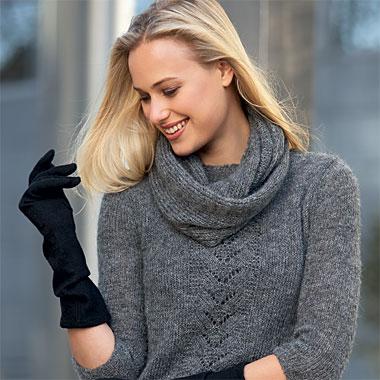 Modèle expliqué gratuit : Pull précieux ajouré et snood assorti à tricoter