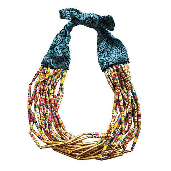 Idée cadeau de Noël Les COULEURS n° 4 - Collier artisanal Ithemba