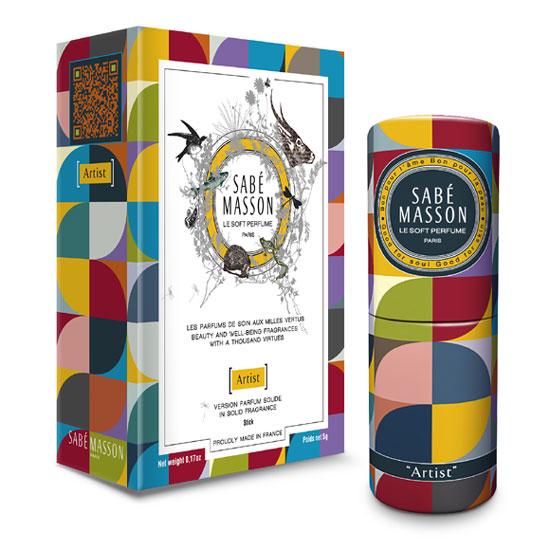 Idée cadeau de Noël Les COULEURS n° 6 - Parfum solide en stick SABE MASSON