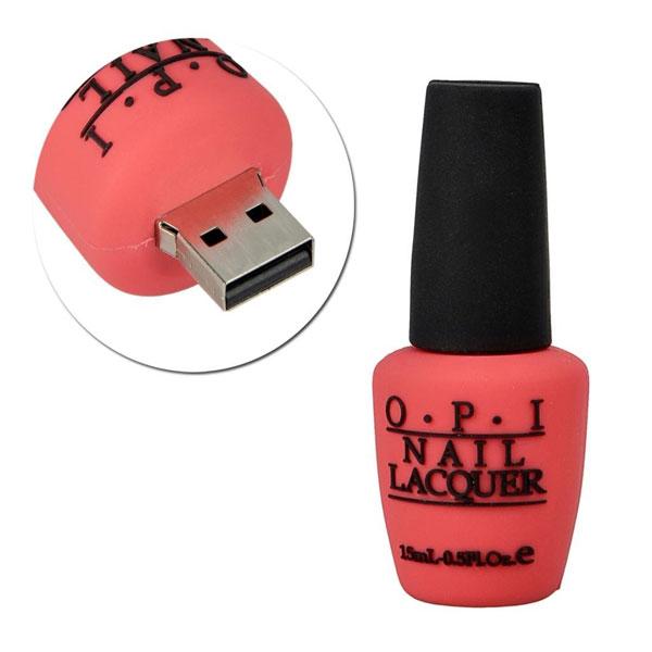 Idée cadeau de Noël HIGH TECH n° 3 - Clé USB Sunworld® Vernis à ongles Rose