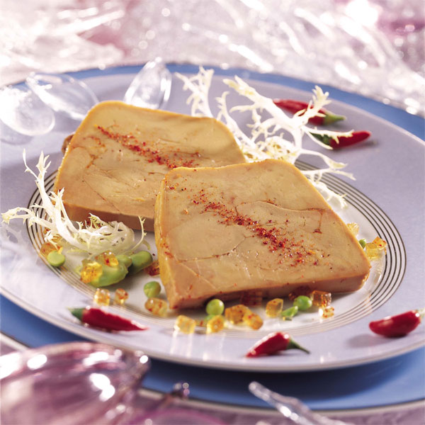 ZOOM Foie gras de canard en terrine façon Compagnons