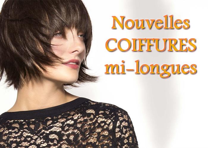 Eté 2015 : CHEVEUX MI-LONGS - toutes les nouvelles créations coiffures - Coiffure SAINT ALGUE