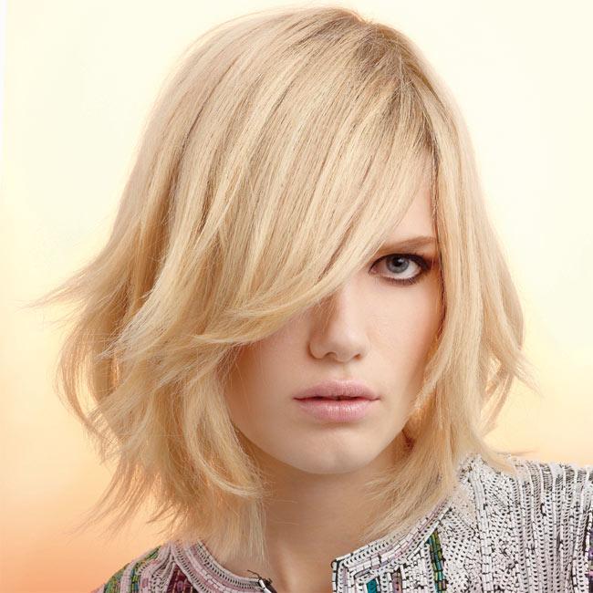 Coiffure cheveux mi-longs - VOG - tendances printemps-été 2015