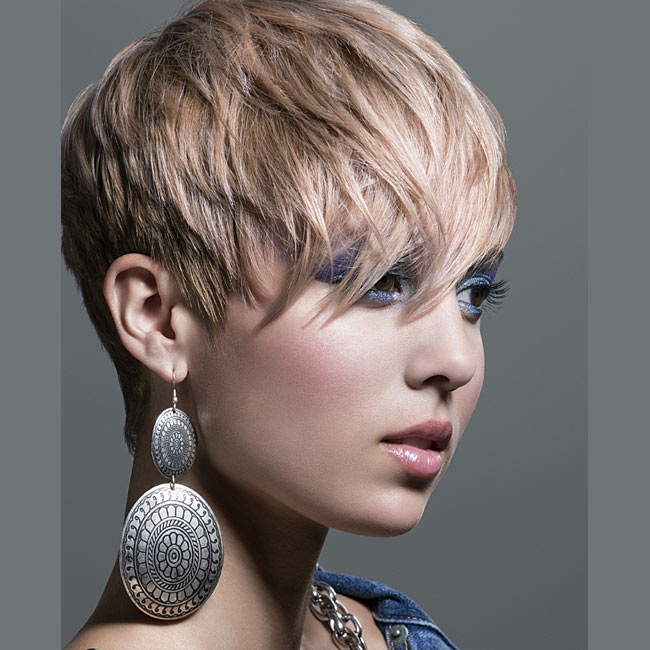 Coiffure cheveux courts - INTERCOIFFURE - tendances printemps-été 2015
