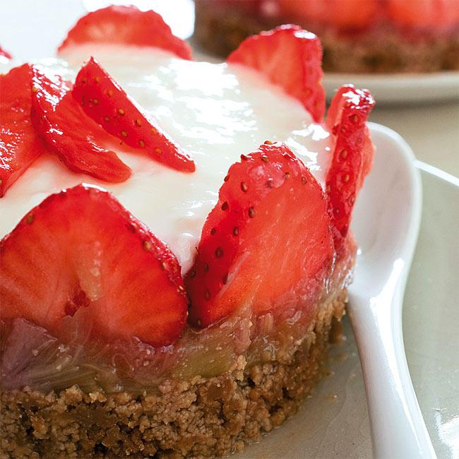 ZOOM recette aux fruits : Cheesecake à la fraise et aux spéculoos
