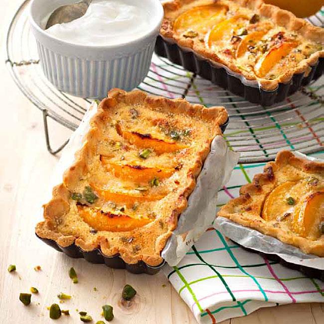 ZOOM recette sans gluten : Tarte amandine pistaches/abricots