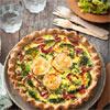 Recette salée sans gluten : tarte fromage chèvre-brocoli, viande des Grisons