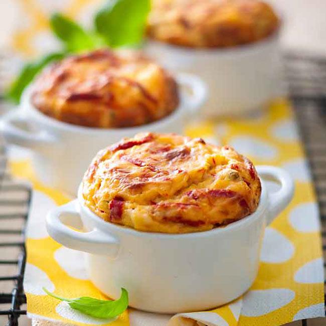 ZOOM recette sans gluten : Soufflés piquillos avec pignons de pin
