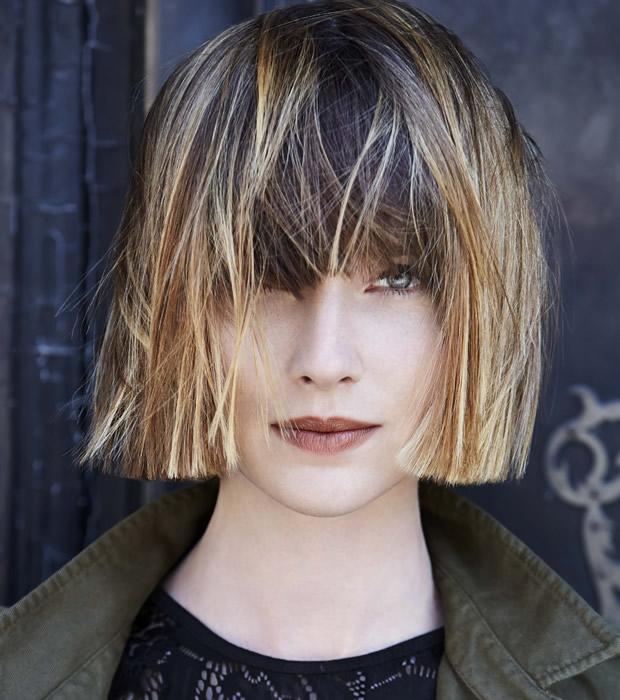 Coiffure cheveux raides et mi-longs Jean-Louis DAVID - automne-hiver 2015/2016