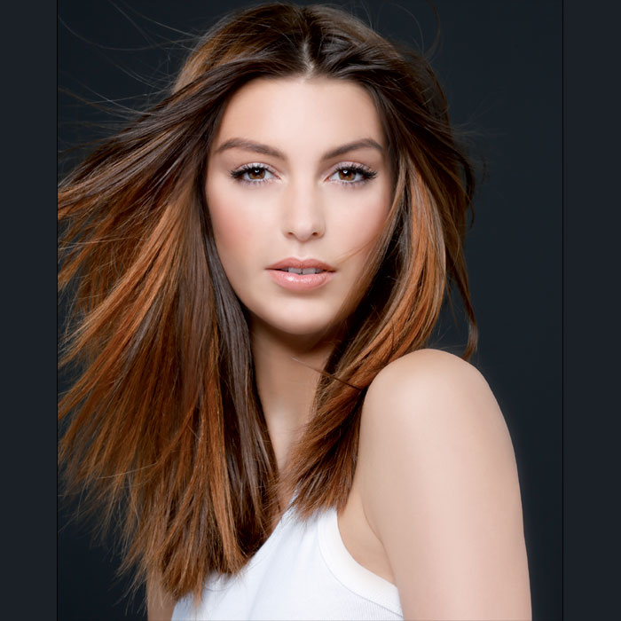 Coiffure cheveux long hiver