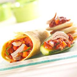 Petites surprises au thon à la catalane, tacos et blinis