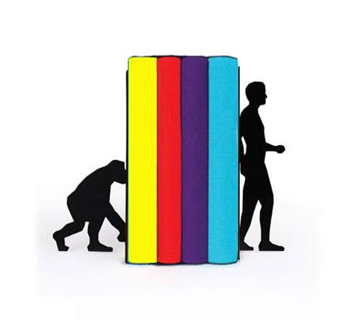 """Livres de la collection Pocket et serre-livres """"Evolution Bookends"""""""