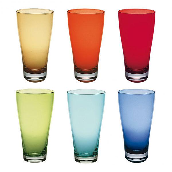 """6 verres de couleurs vives """"Nadia"""" Vetri delle Venezie"""