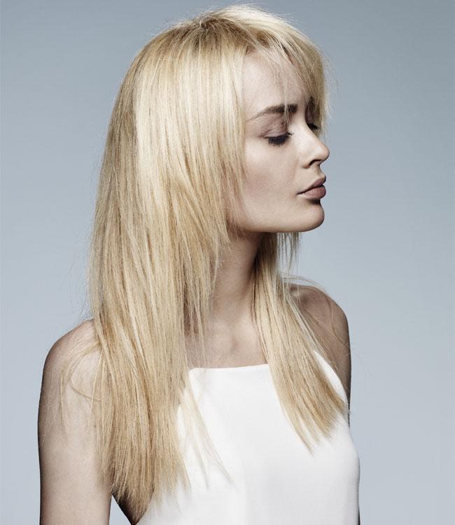 Cheveux clairs fins et longs - Coupe et coiffure MANIATIS Paris - Printemps-été 2016.