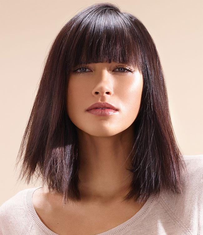 Cheveux foncés, fins et longs - Coupe et coiffure INTERMEDE - Printemps-été 2016.