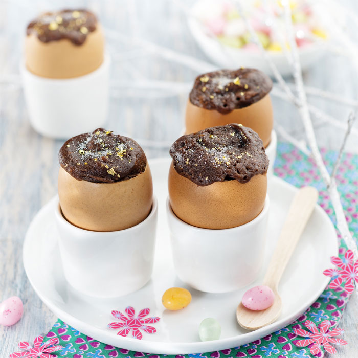 Zoom Spécial Pâques : moelleux rapides aux œufs et au chocolat