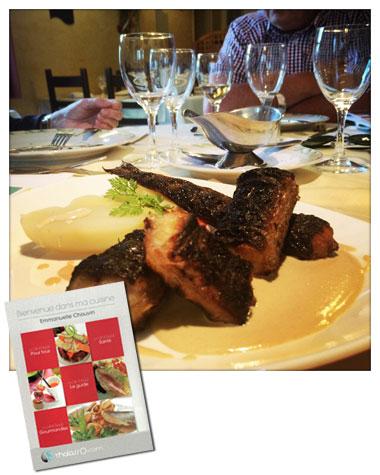 Plat typique de la cuisine montoise : les anguilles Glajou et le carnet de conseils et recettes d'Emmanuelle Chauvin.
