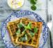Spécial légumes : gaufres salées carottes, courgettes et salade