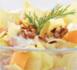 Salade complète endives, jambon, fromage blanc et noisettes