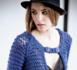Tricot gratuit à réaliser : gilet chic et très mode en coton maille XL