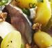 Salade de pommes de terre primeur, poire, maquereau, chèvre et noix