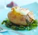 Pommes de terre en papillotes, milk-shake au safran de Noirmoutier
