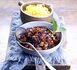 recette : goulasch de lièvre avec noix et myrtilles sauvage du Canada