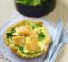 recette pour lunch box de Yannick Alléno : Quiche de Popeye