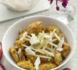 crumble poulet curry, amandes, pomme Granny et Boursault