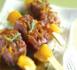 piques de magrets de canard aigre-doux à l'orange