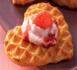 recette : coeurs de gaufres aux deux fraises