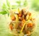 Verrines au maquereau, concombre et betterave rouge
