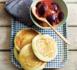 Recette light : pancakes à la vanille avec prunes poêlées