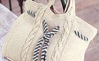 sac esprit marin à tricoter, explications gratuites
