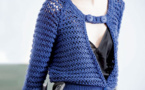 Modèle expliqué : un gilet en coton maille XL à tricoter.