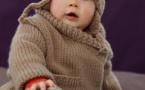 Modèles layette expliqués : veste-paletot + bonnet © Phildar..