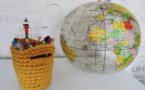Modèle expliqué : mini-corbeille à réaliser au crochet © ABCfeminin.com.