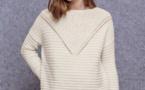 Modèle expliqué : pull féminin en laine mérinos à tricoter © Phildar.