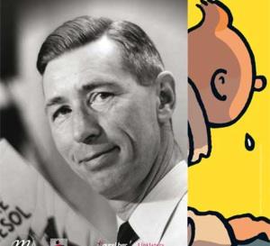 Hergé, le créateur de Tintin et l'inventeur de 'la ligne claire' est célébré à Paris