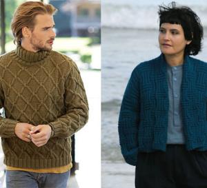 Deux tricots expliqués pour une belle rencontre entre elle et lui