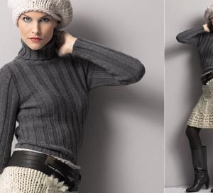 Pull + jupe + sac à tricoter, explications gratuites à télécharger