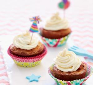 Cupcakes aux endives et aux poires, crème au mascarpone