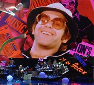 Las Vegas a rangé le piano rouge d'Elton John