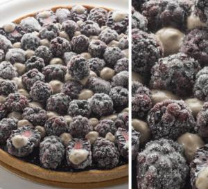 Recette de Pierre Gagnaire : tarte sablée aux mûres cristallisées et au Saint Agur @Jacques_Gavard