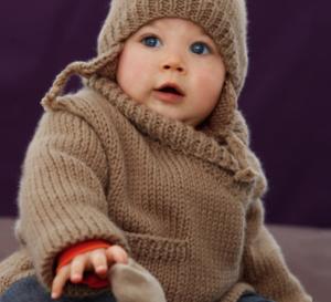 Layette : veste paletot et bonnet pour bébé : explications gratuites