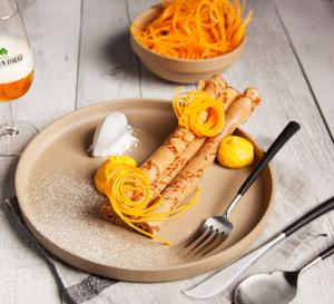 Crêpes au miel, butternut et calvados du chef étoilé David Toutain